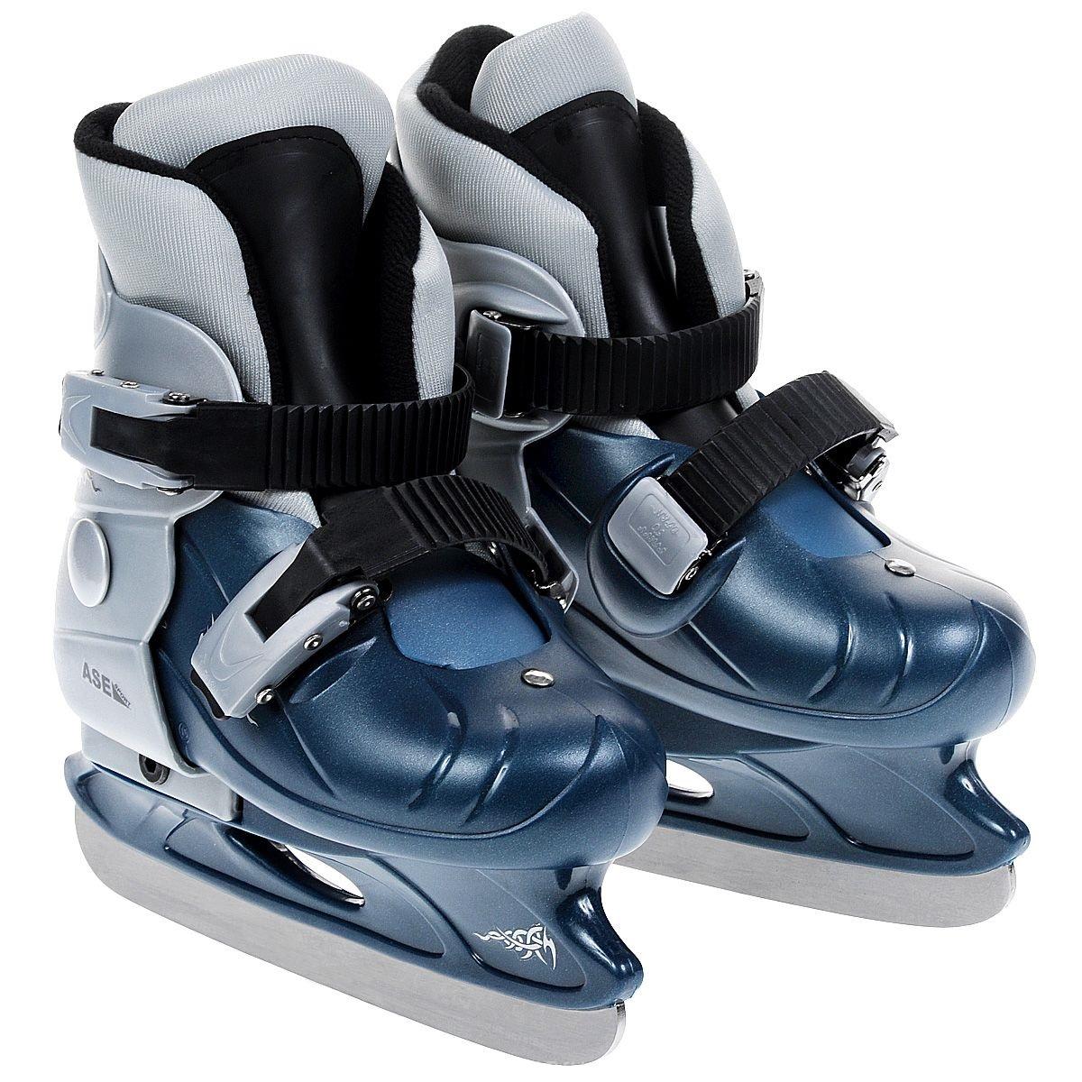 Коньки раздвижные ASE-SPORT Ase-Sport р.S (33-36) коньки хоккейные раздвижные ase sport ase 211f цвет белый розовый размер 34 37