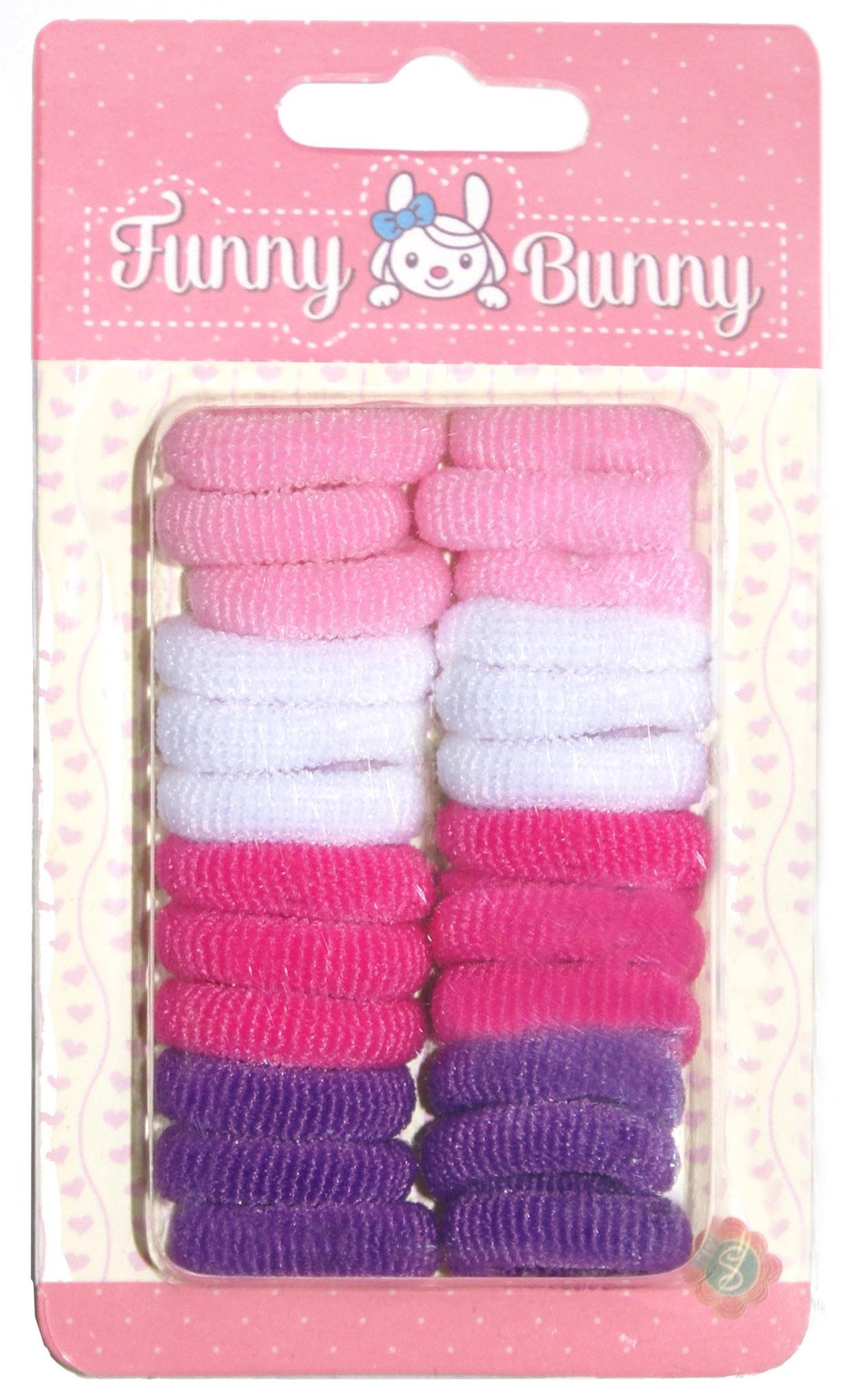 Украшения Funny Bunny Резинка для волоc Funny Bunny «Большой набор» в ассортименте невидимка для волос funny bunny розовые цветы 2 шт