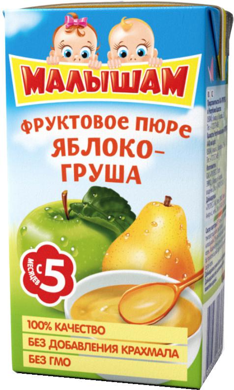 Пюре Прогресс Яблоко-груша (с 5 месяцев) Tetra Pak 125 г пюре gerber organic тыква и сладкий картофель с 5 мес 125 г