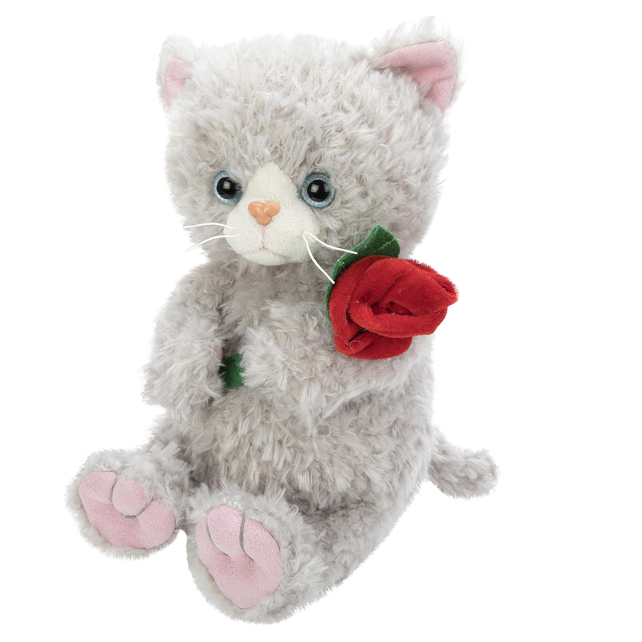 Мягкая игрушка Angel Collection Котик с цветком. Cat story мягкая игрушка котенок angel collection cat story поваренок искусственный мех 20 см 681344