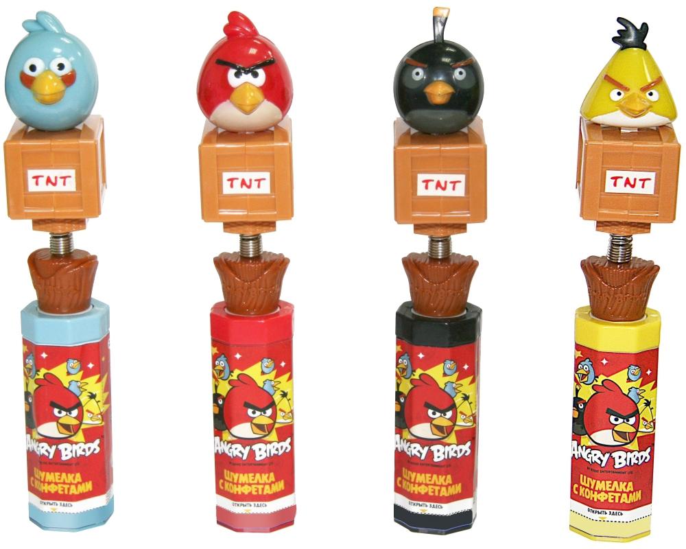 Купить Шумелка, Angry Birds с конфетами 10 г в ассортименте, 1шт., Angry Birds GP-17_AB, Китай