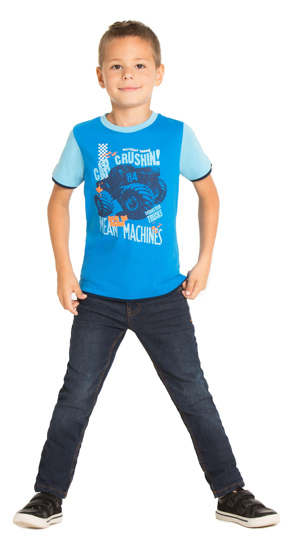Футболки для мальчиков Barkito с коротким рукавом Монстр Трак футболки barkito футболка с длинным рукавом для мальчика barkito монстр трак синяя