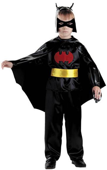 Костюмы и маски Батик Чёрный Плащ р. 30 костюм злого пришельца детский 38
