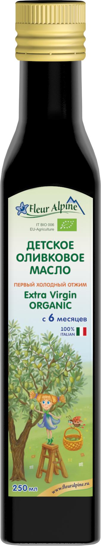 Масло Fleur Alpine оливковое Fleur Alpine Extra Virgin Organic с 6 мес. 250мл