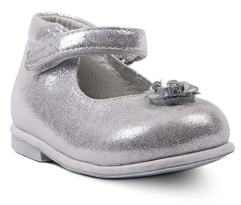 Босоножки Barkito Туфли для девочки Barkito серебряные цена и фото