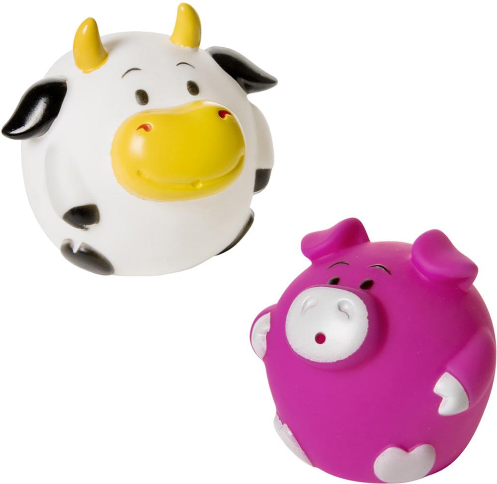 Детские игрушки для ванной Курносики Кругляши с фермы курносики набор игрушек для ванной осьминог и акула