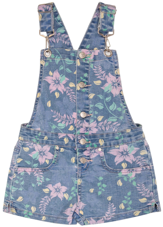 Полукомбинезон для девочки Barkito Голубой с рисунком полукомбинезон джинсовый для девочки barkito деним