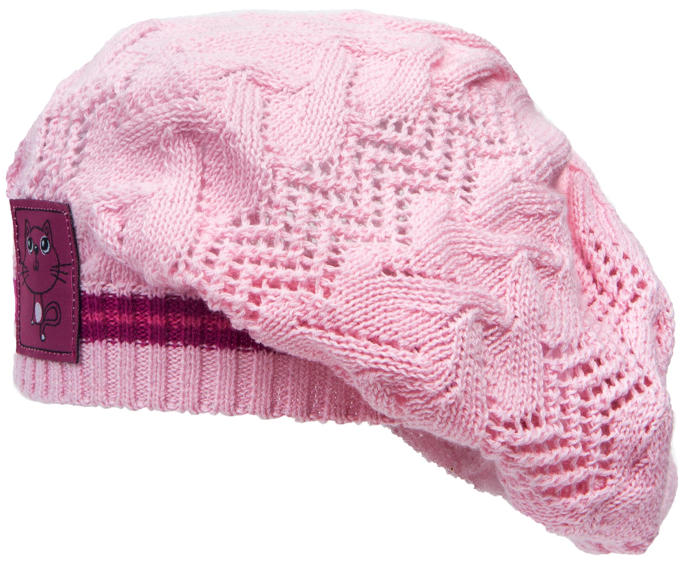 Головные уборы Barkito Берет детский для девочки Barkito, розовый с сиреневым берет lak miss берет
