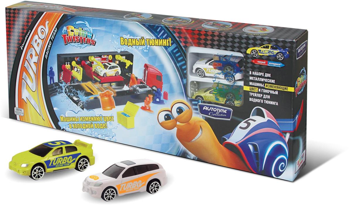 Треки AUTOTIME Игровой набор Autotime «Color Twister Water Racing Transporter Turbo» с грузовиком машинки autotime машинка scania transport с вертолетом