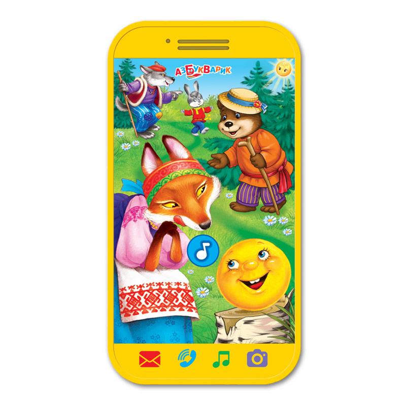 лучшая цена Развивающие игрушки Азбукварик Развивающая игрушка Азбукварик мини-смартфончик «Колобок»