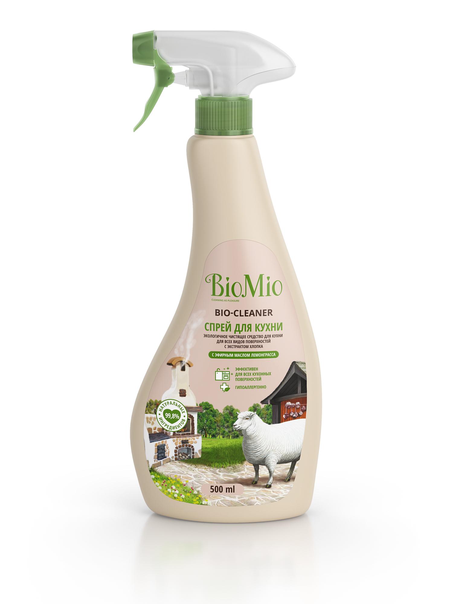Спрей для кухни BIO MIO Bio-Kitchen Cleane. Лемонграсс