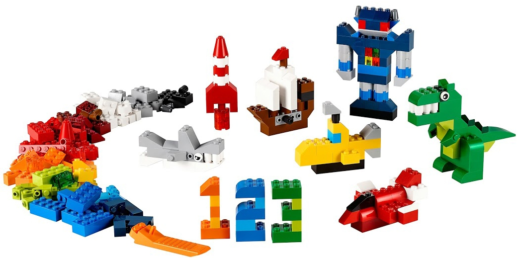 Конструктор LEGO Classic Дополнение к набору для творчества – яркие цвета classic 10692 набор для творчества