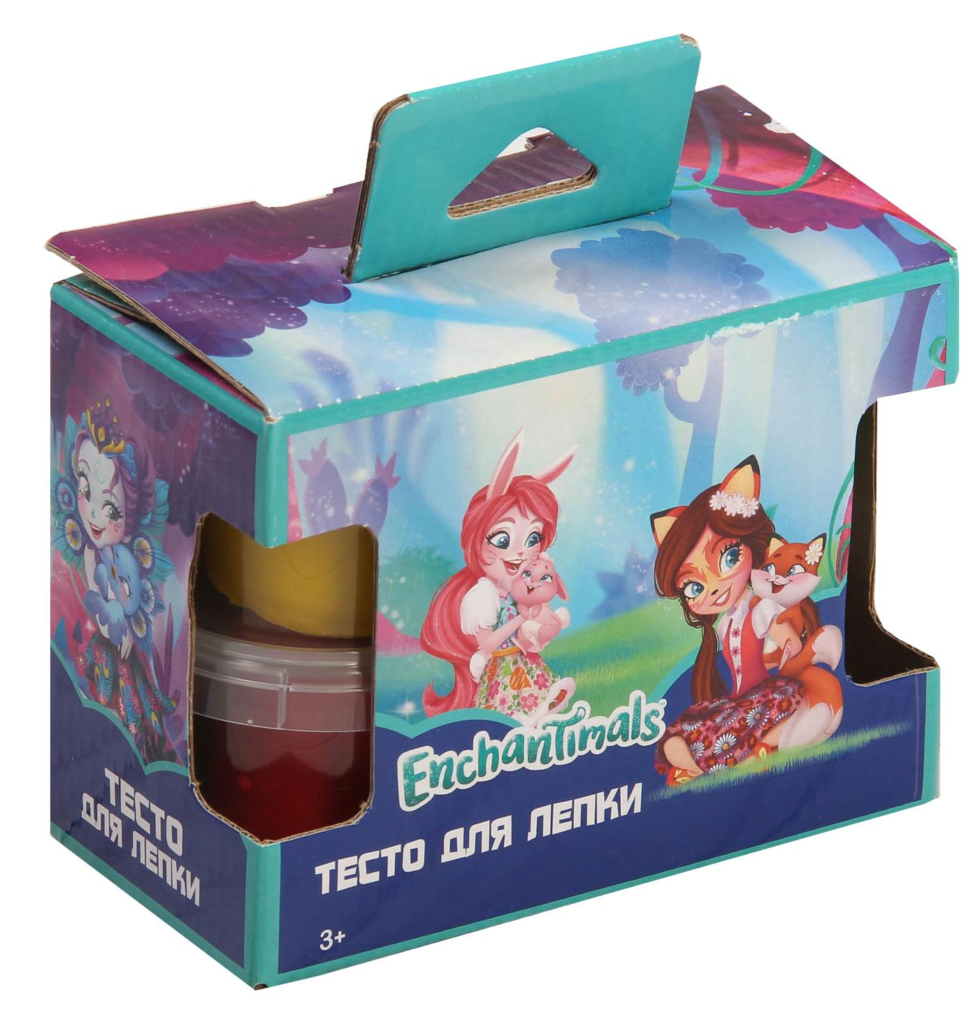 Тесто для лепки Centrum Enchantimals 4 цвета играем вместе тесто для лепки принцессы дисней неоновое 4 цвета