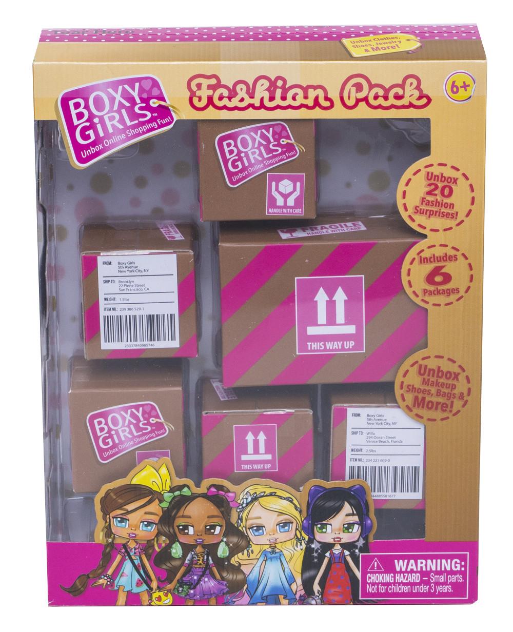 Аксессуары 1toy Игровой набор 1Toy 6 посылок с сюрпризом для кукол Boxy Girls 24 предмета boxy fancy brick carbon