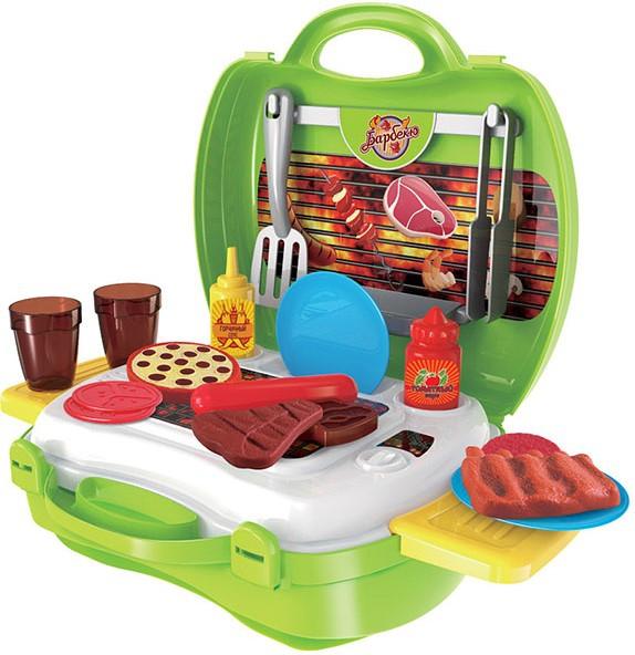 Игрушечные кухни 1toy в чемоданчике Мастер-Шеф Барбекю повар