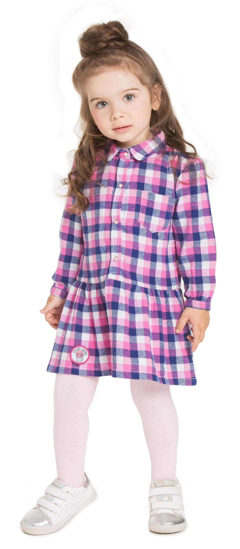 Платье детское Barkito Космические котики розовое с рисунком в клетку платье с рисунком фрукты vestido ecbert