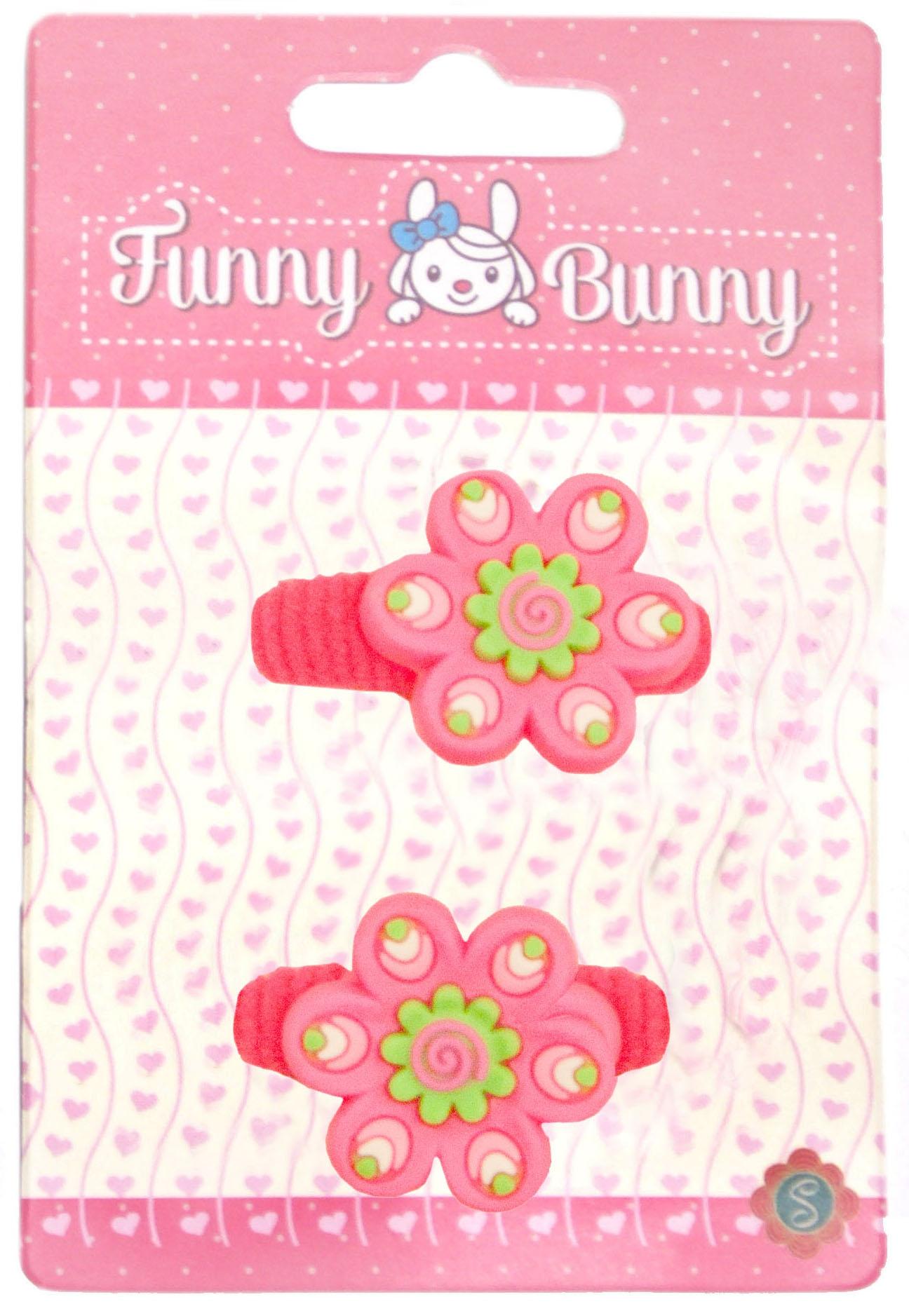 Украшения Funny Bunny Резинка для волоc Funny Bunny пластик 2 шт. в ассортименте