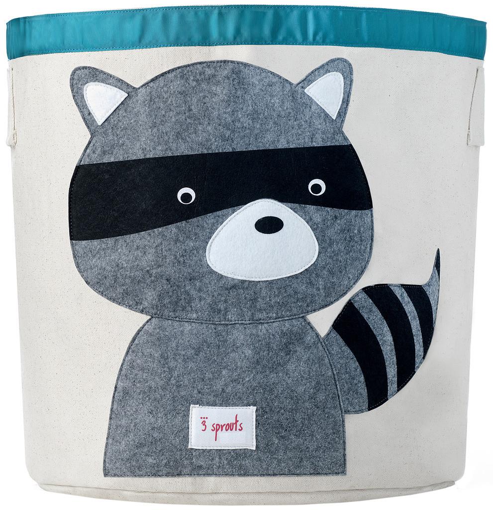 Ящики и корзины для игрушек 3 Sprouts Корзина для хранения 3 Sprouts «Grey Raccoon»