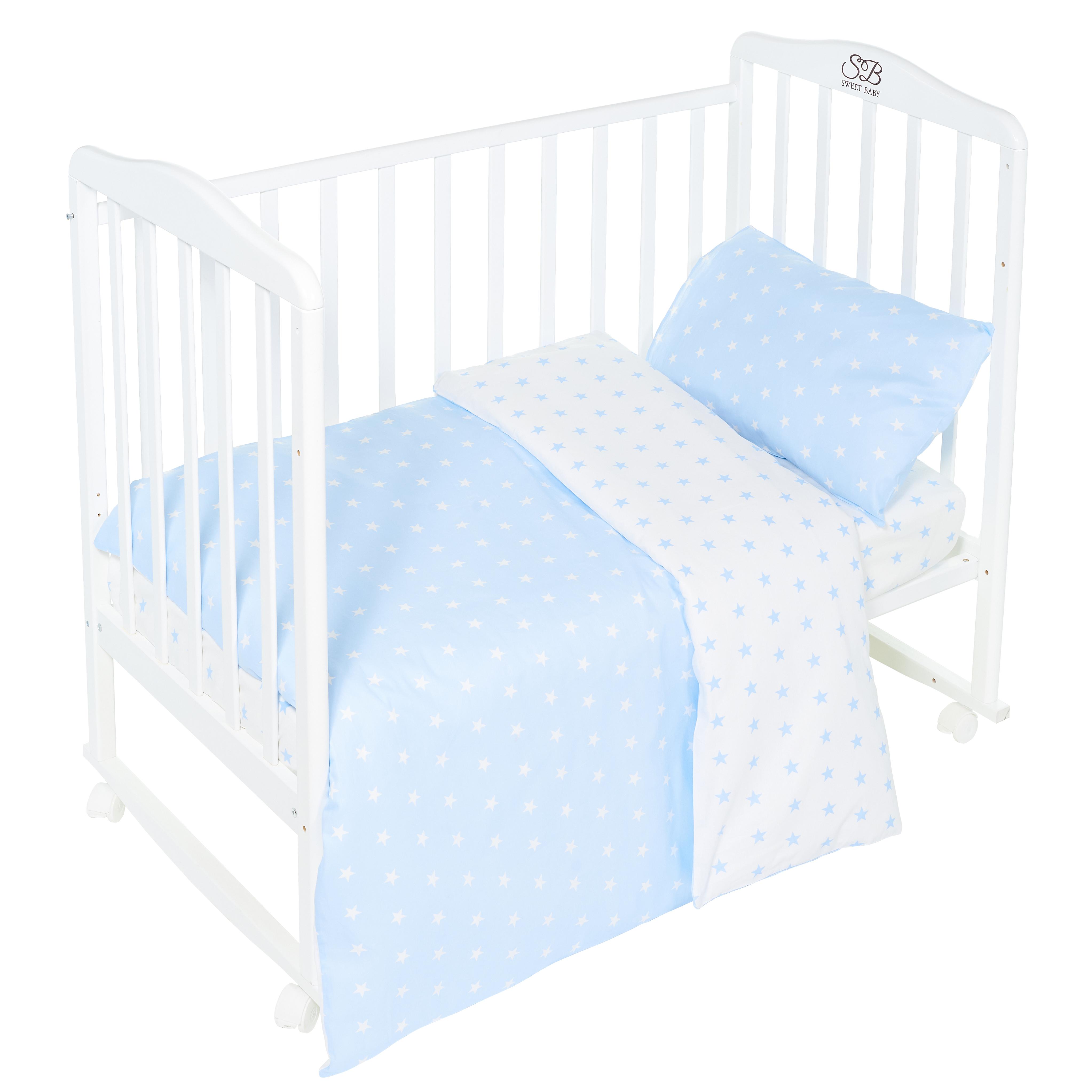 Постельные принадлежности Sweet Baby Комплект постельного белья Sweet Baby «Stelle Blu» 3 пр. светло-голубой каталки sweet baby viaggiare