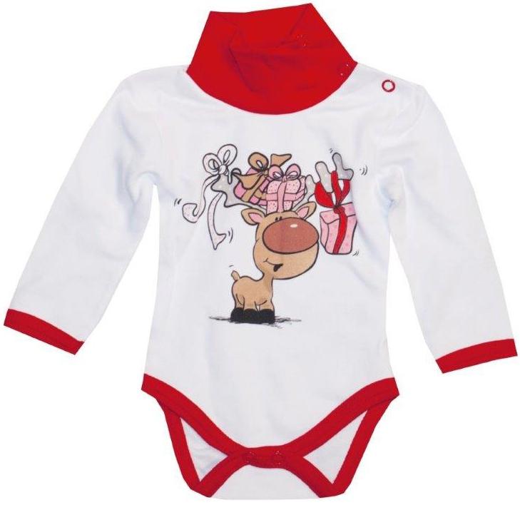 Первые вещи новорожденного Barkito Боди с длинным рукавом Новый год Barkito Белый боди и песочники little me боди с длинным рукавом