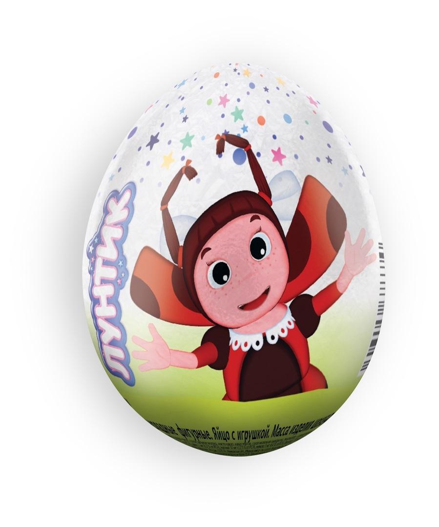 Шоколадное яйцо Лунтик Лунтик с игрушкой 20 г