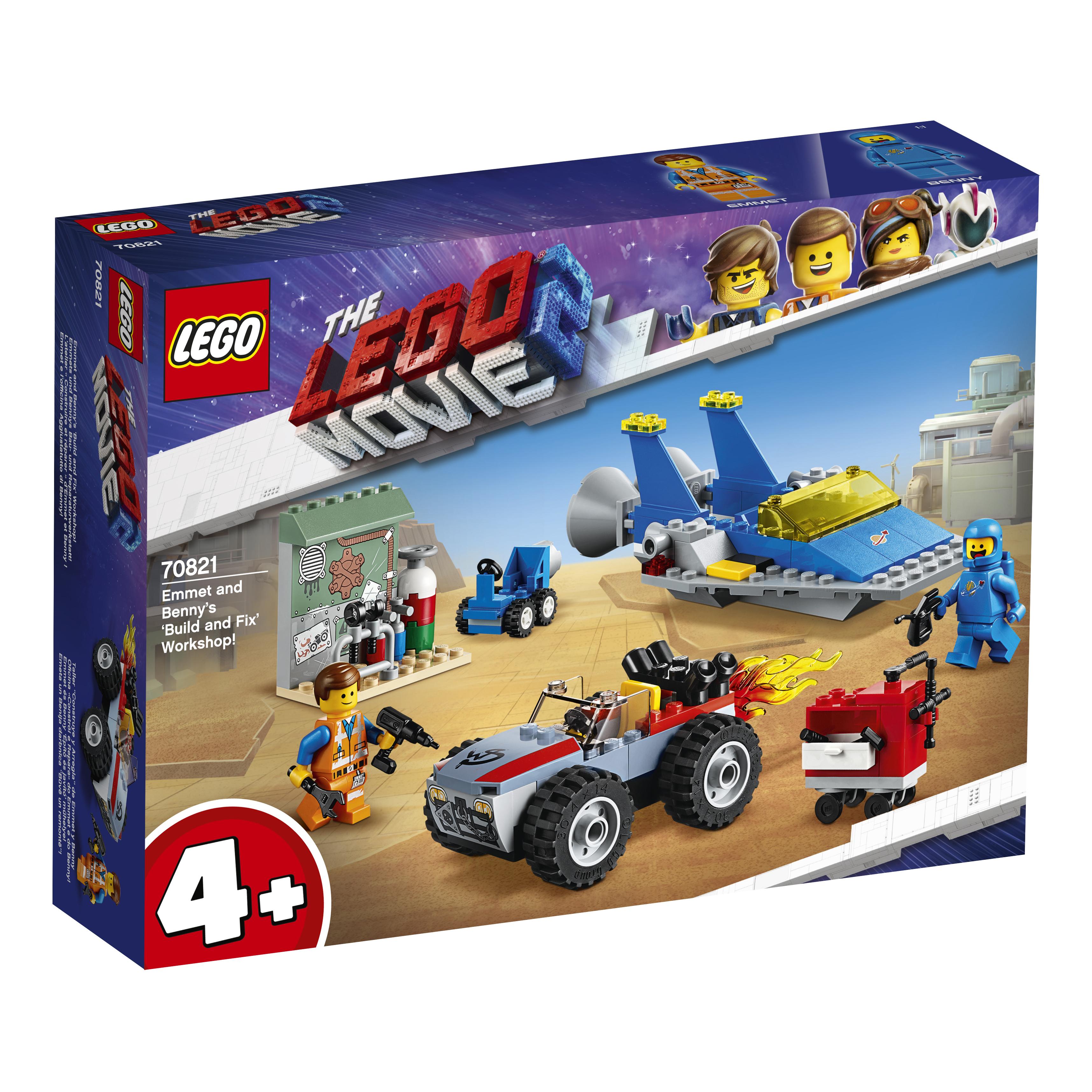 Конструктор LEGO Movie 70821 Мастерская «Строим и чиним» Эммета и Бенни! цена в Москве и Питере