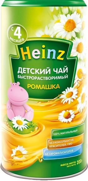 Чай детский Heinz Ромашка быстрорастворимый с 4 мес. 200 г.