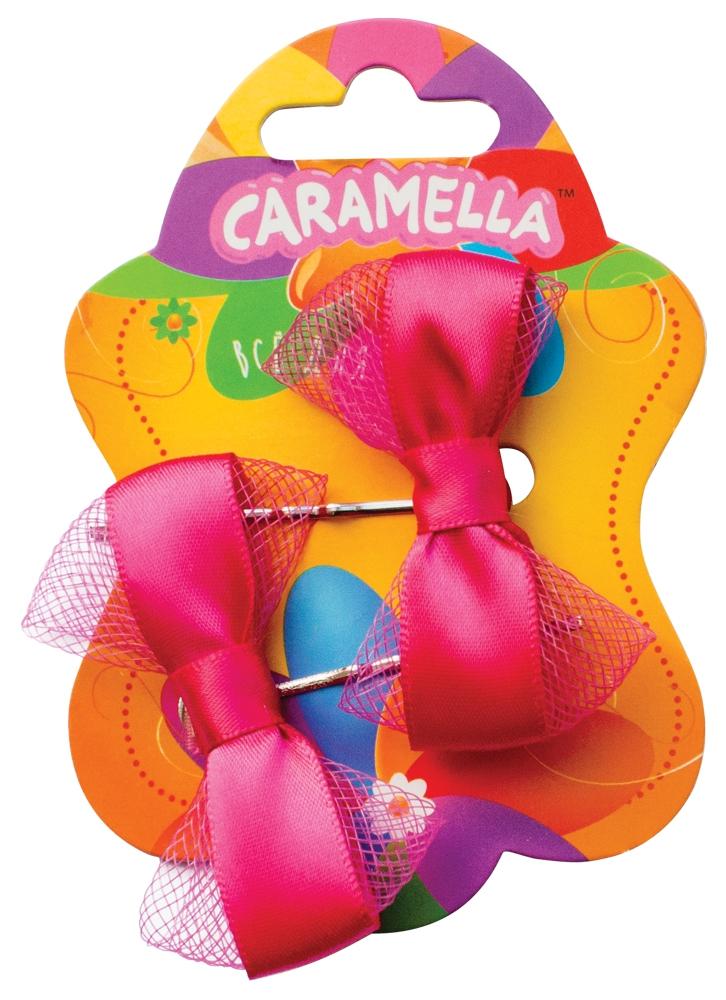 Украшения CARAMELLA Заколка для волос Caramella «Бантик» ярко розовые 2 шт. невидимка для волос funny bunny розовые цветы 2 шт