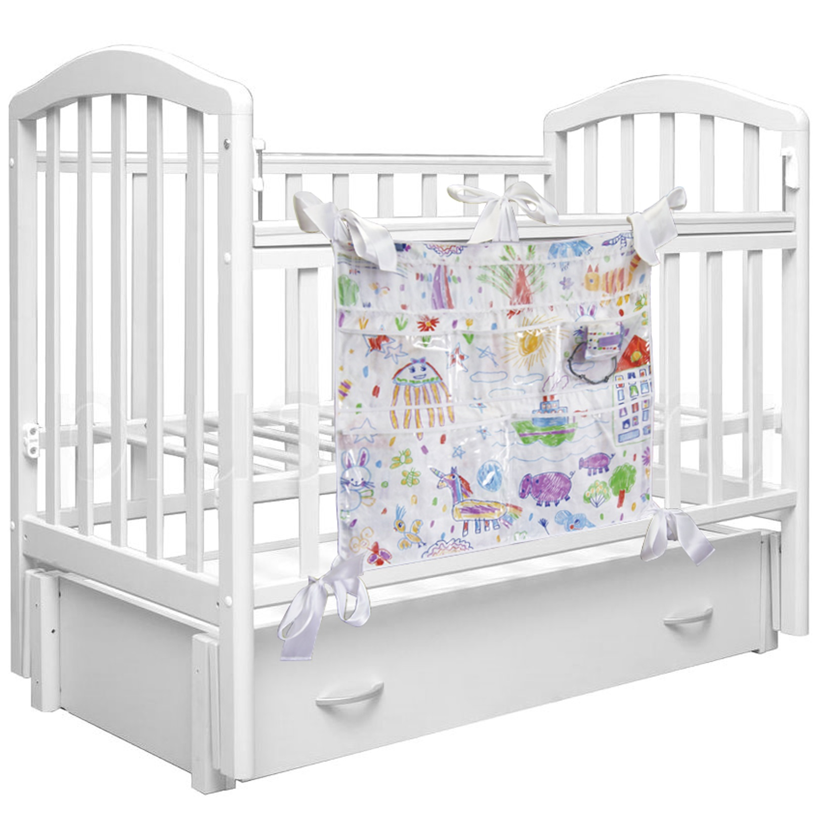 Аксессуары для кроваток Вит-Фит Органайзер на кроватку Вит-Фит «Каляки-Маляки» 63х60 см цена 2017