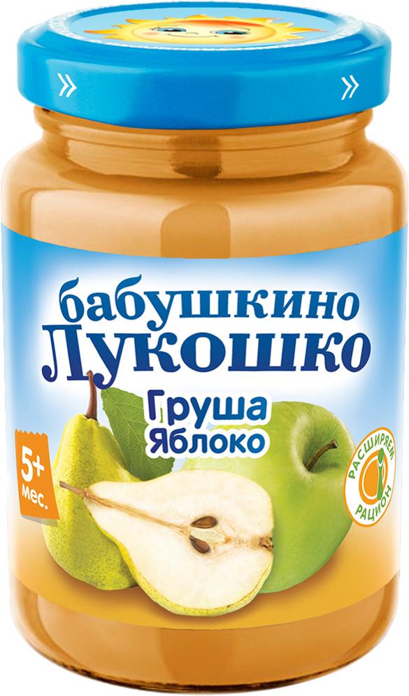 цена на Пюре Бабушкино лукошко Бабушкино Лукошко Груша-яблоко (с 5 месяцев) 200 г стеклянная банка
