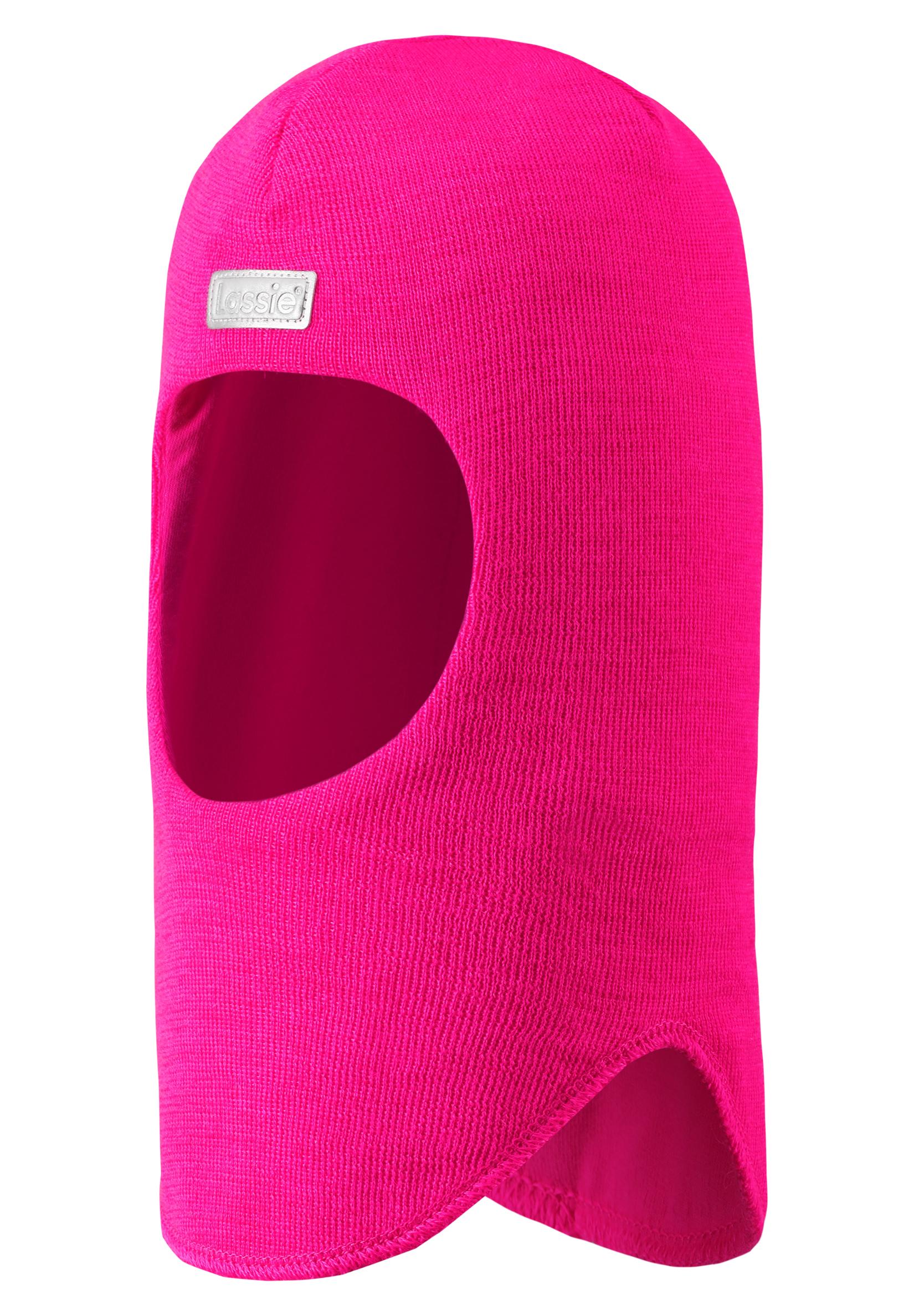 Купить со скидкой Шапка-шлем для девочки Lassie, розовая