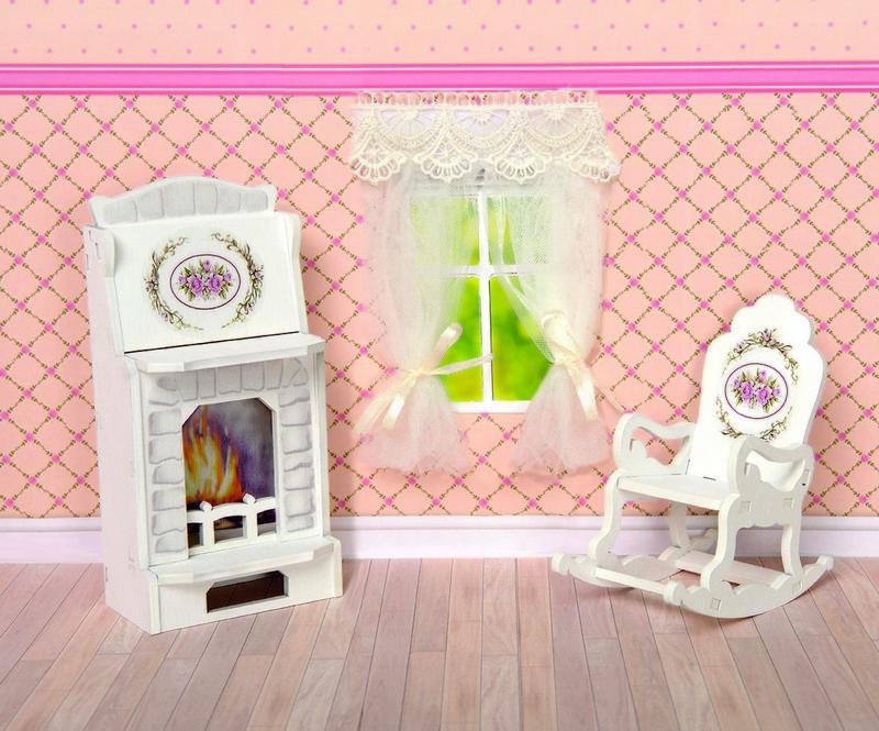 Игровой набор ЯиГрушка Прованс камин и кресло-качалка
