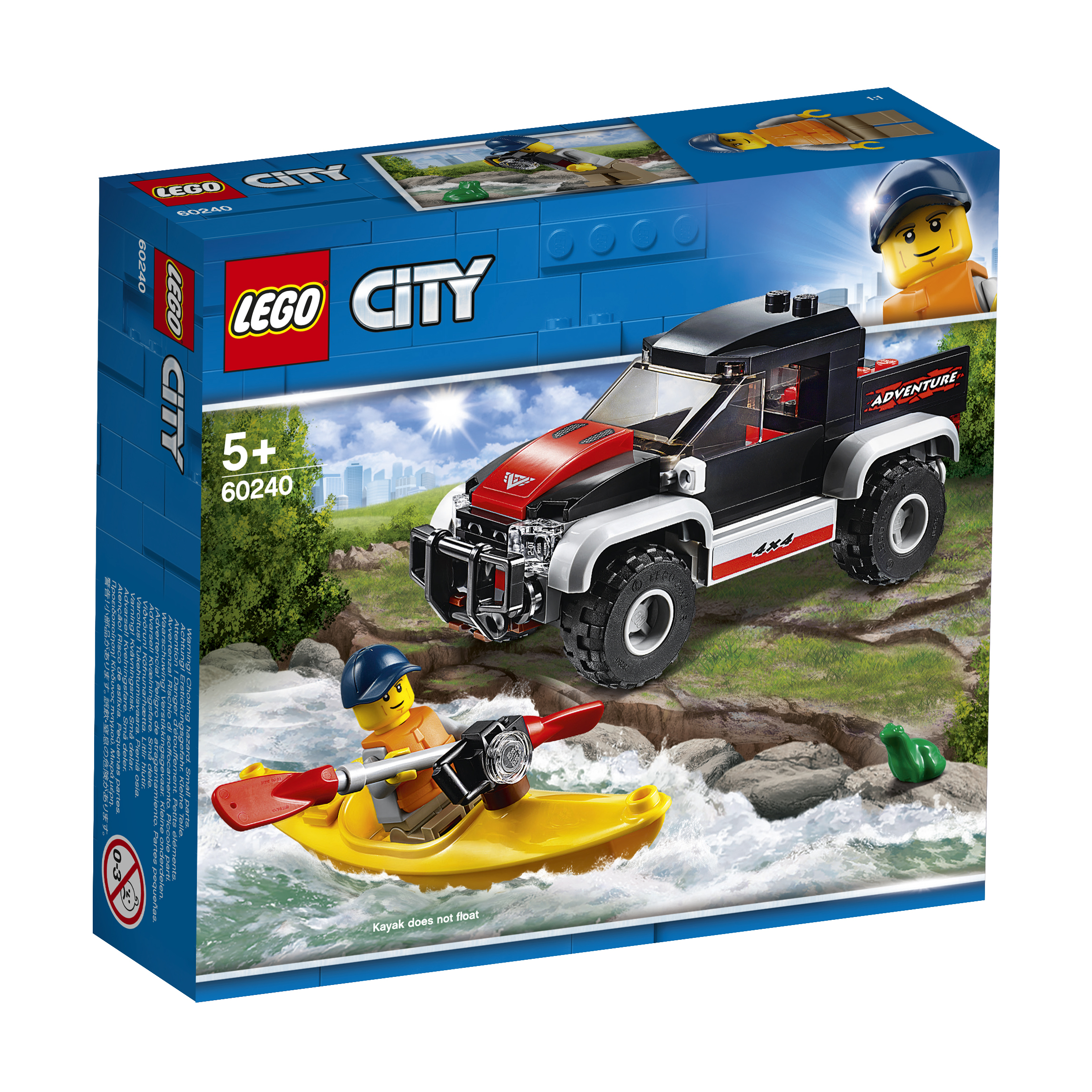 Купить LEGO, City Great Vehicles 60240 Сплав на байдарке, Венгрия