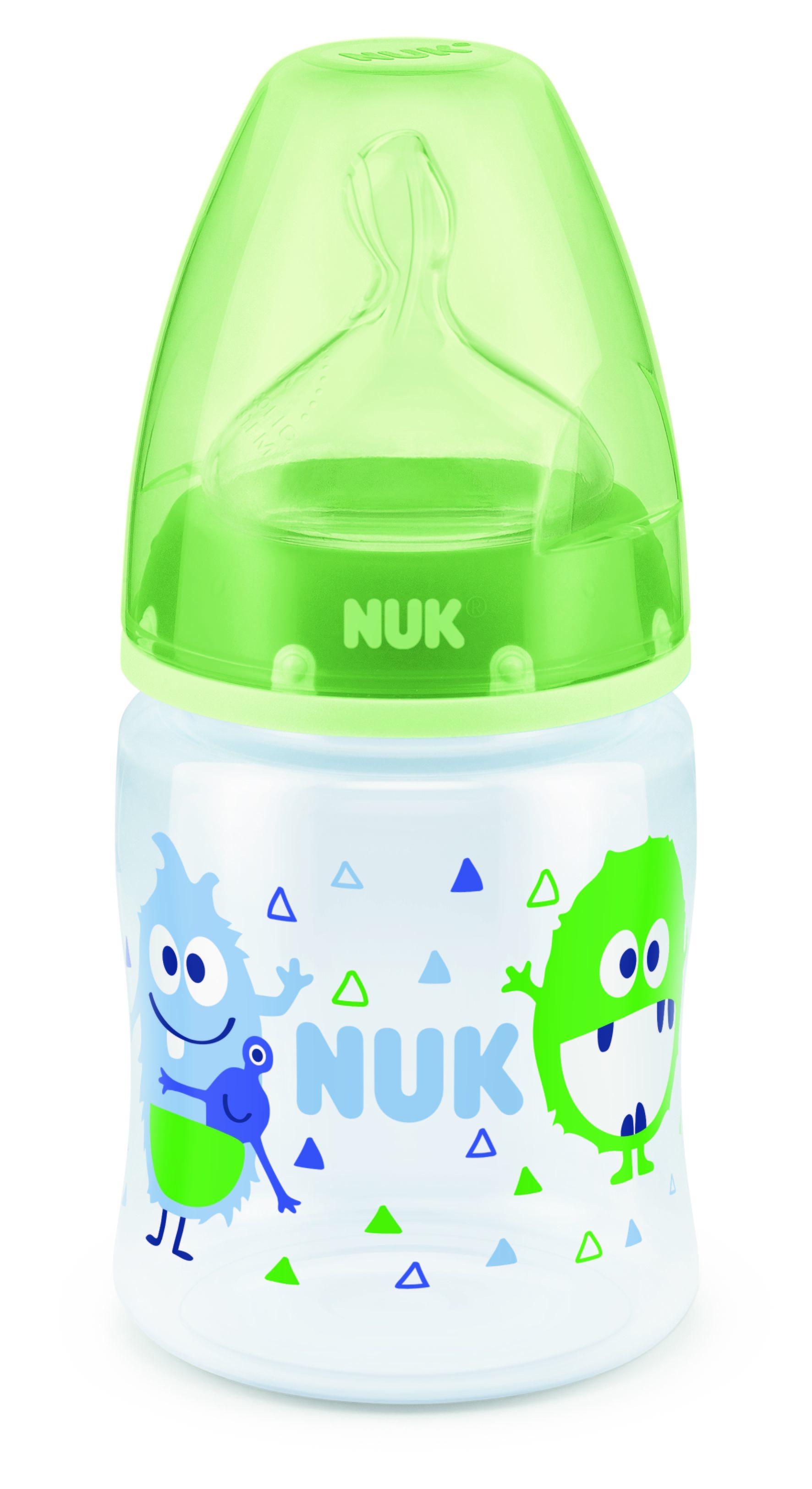 Бутылочки NUK First Choice Plus с силиконовой соской М 0+, 150 мл. бутылочки nuk first choice plus пластик 150 мл силиконовая соска м