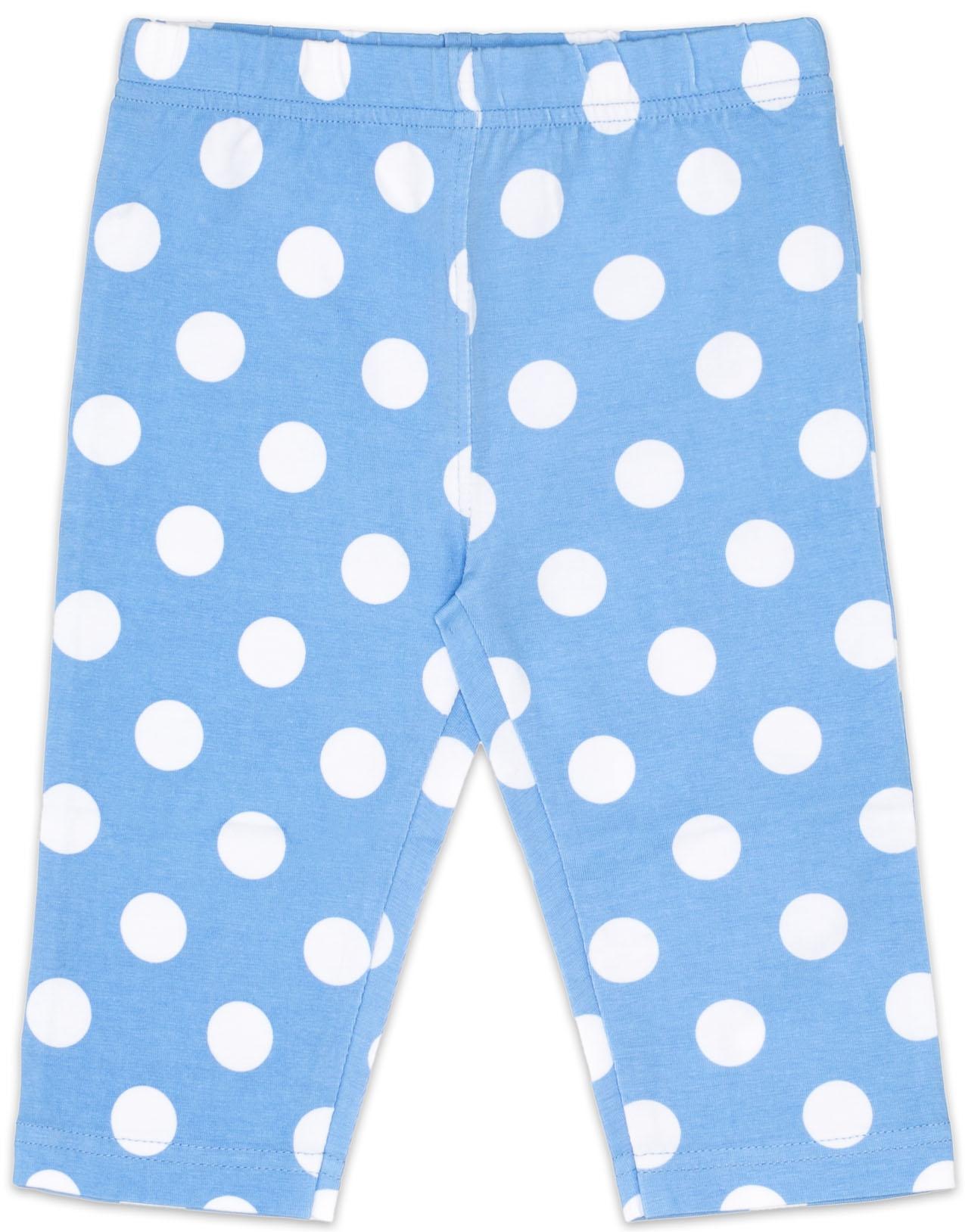Легинсы Barkito Брюки трикотажные капри для девочки Barkito, У синего-синего моря, голубые с рисунком  в горох брюки дудочки 7 8 с рисунком