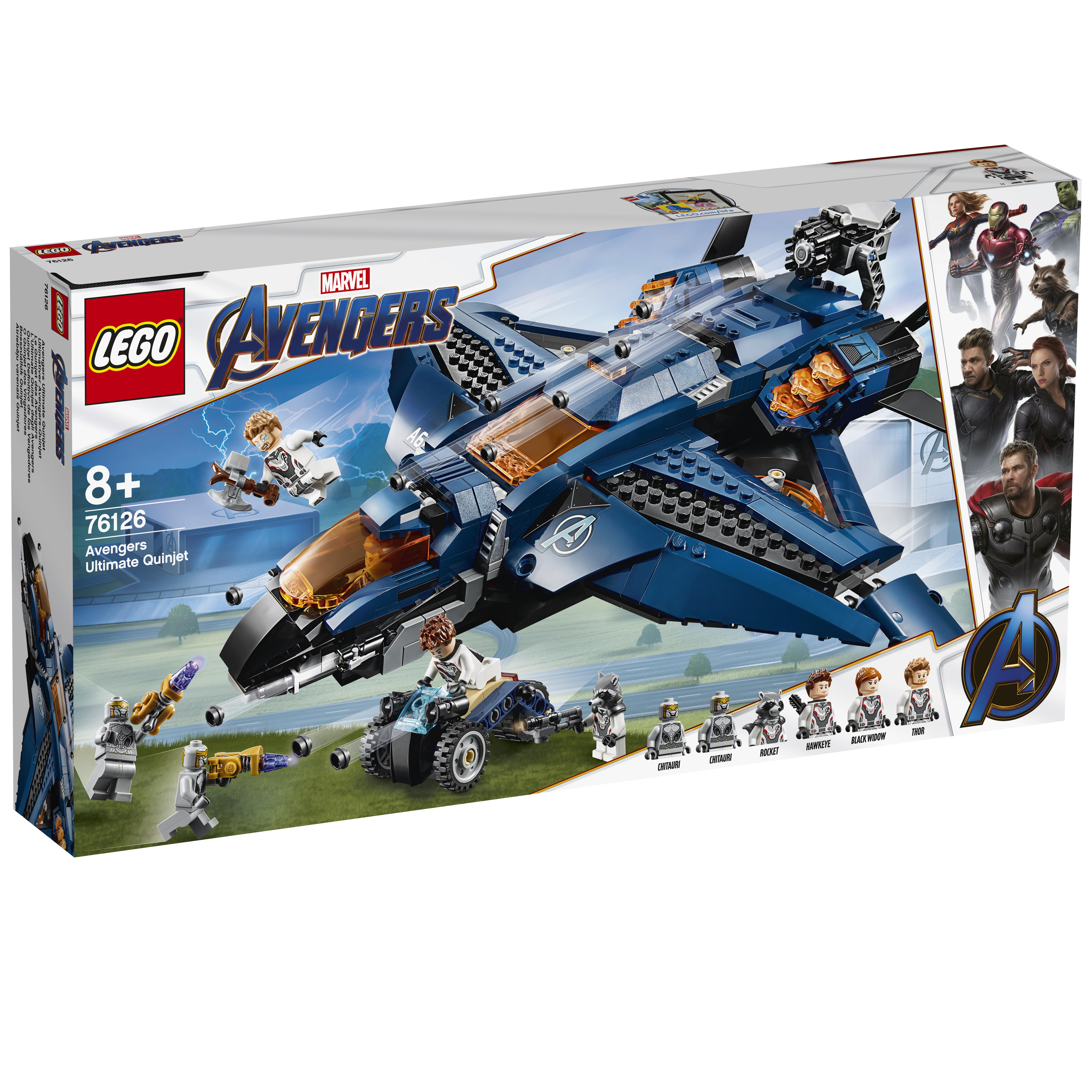 Конструктор LEGO Super Heroes 76126 Модернизированный квинджет Мстителей цены онлайн