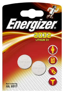 Элемент питания Energizer Miniatures Lithium CR 2032 2 шт элемент питания energizer max aaa 2 шт