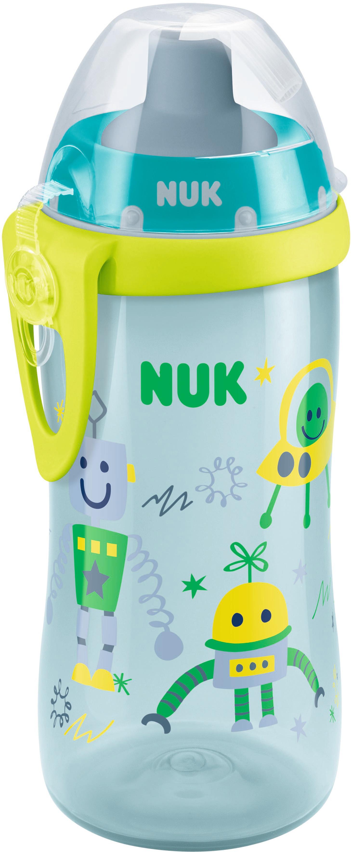 Чашки и поильники NUK First Choice с трубочкой 300 мл бутылочки nuk first choice plus baby blue пластик 300 мл силиконовая соска м