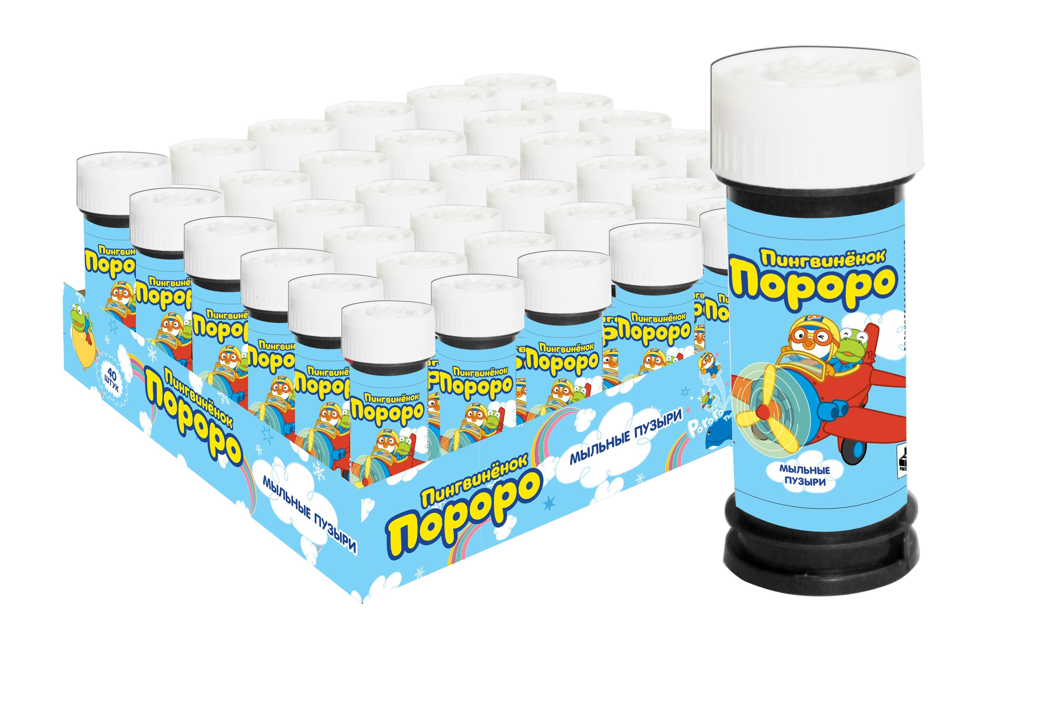 Мыльные пузыри 1toy Пингвинёнок Пороро, 50 мл. мыльные пузыри 1toy angry birds classic 50 мл