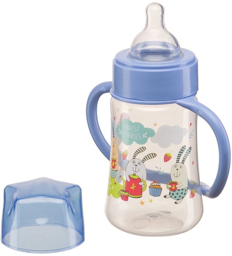 Фото - Бутылочка для кормления Happy baby Baby Bottle с ручками, с силиконой соской 0+, 250 мл. набор для кормления детей happy baby anti colic baby bottle 10009 blue