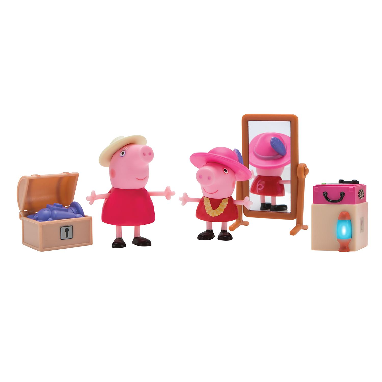 Купить Peppa Pig, Свинка Пеппа и Бабушка в гардеробной, 5 предметов, Китай, разноцветный, Женский