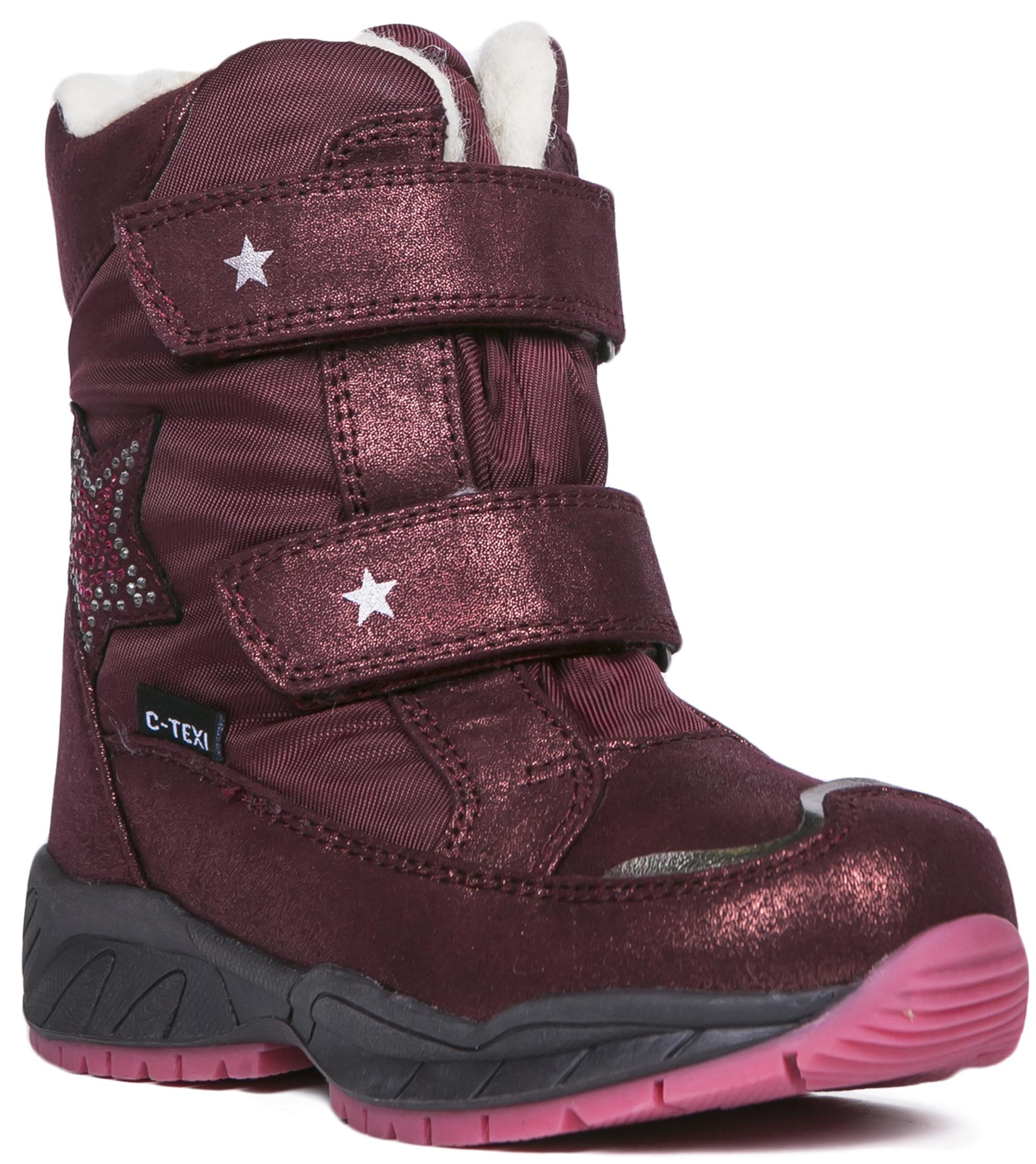 Купить Ботинки и полуботинки, Ботинки для девочки Barkito, бордовые, Китай, Женский