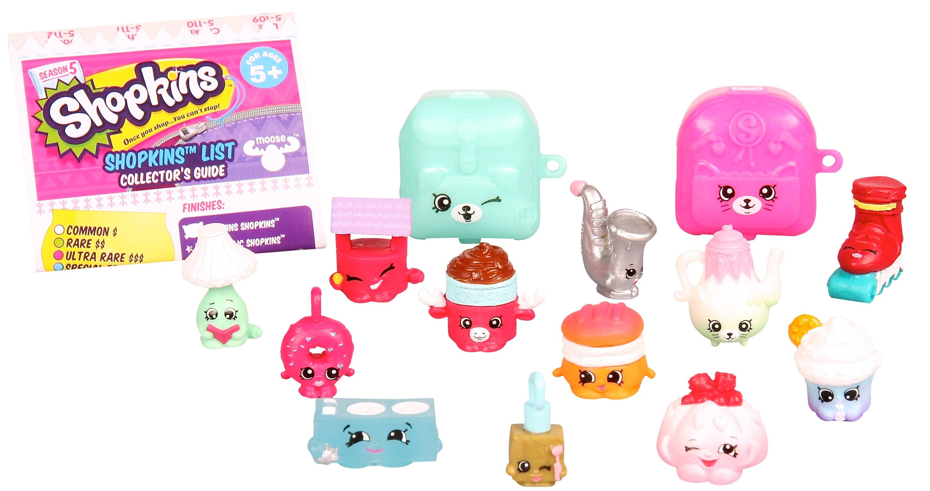 Игровой набор Shopkins 12 фигурок с аксессуарами 5 сезон набор из 5 фигурок shopkins