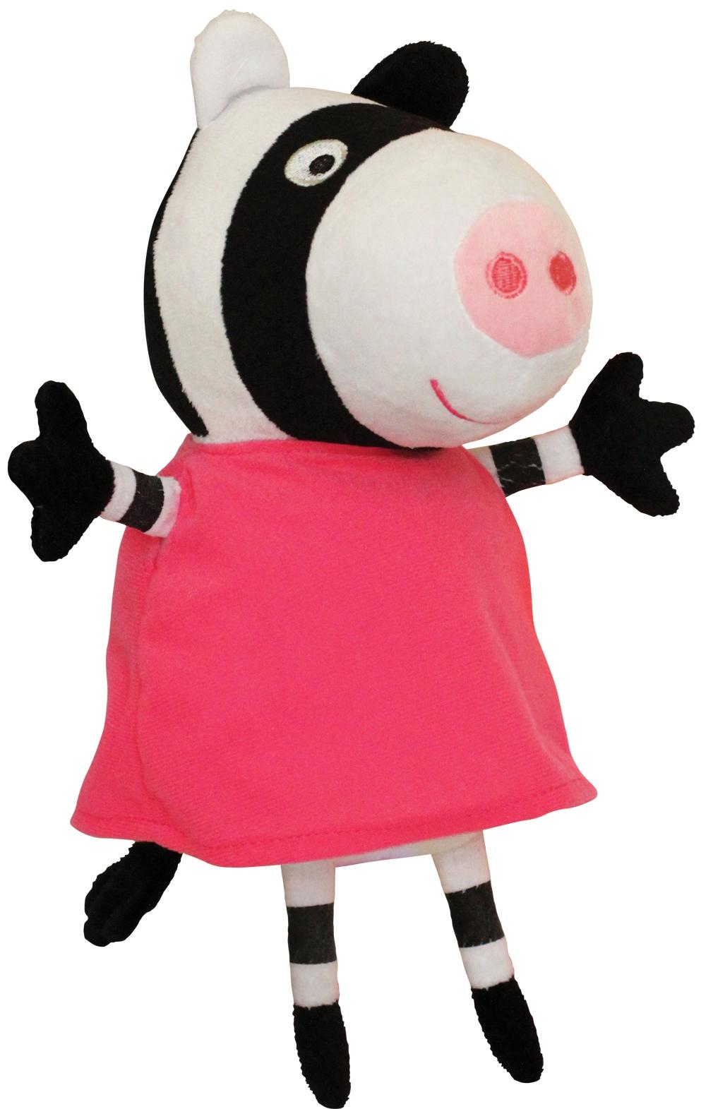 Купить Peppa Pig, Зебра Зои 20 см, Китай, белый, черный, розовый