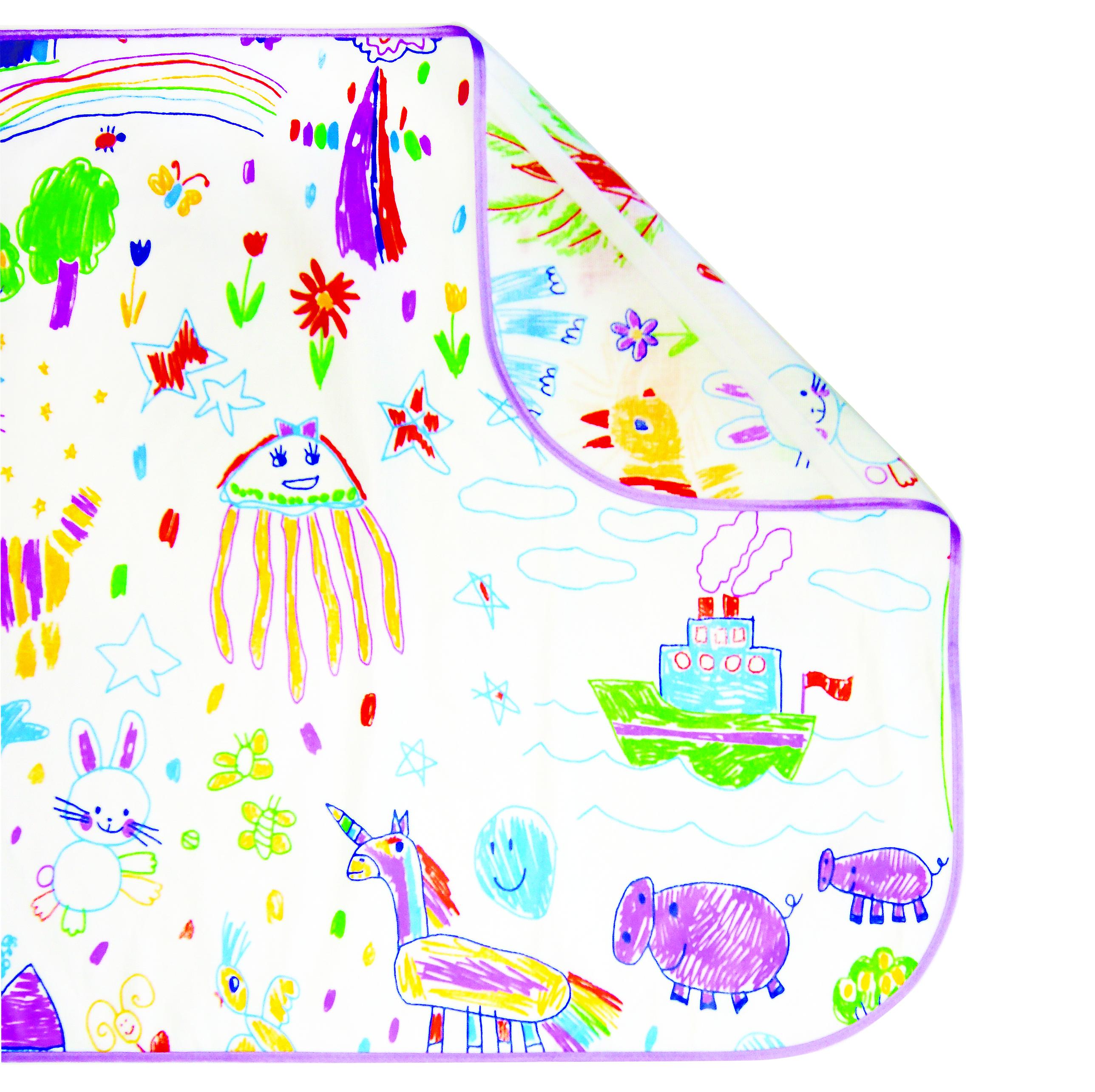 Постельные принадлежности Вит-Фит Наматрасник Вит-Фит «Каляки-Маляки» с ПВХ покрытием 60х120 см, бязь цена 2017