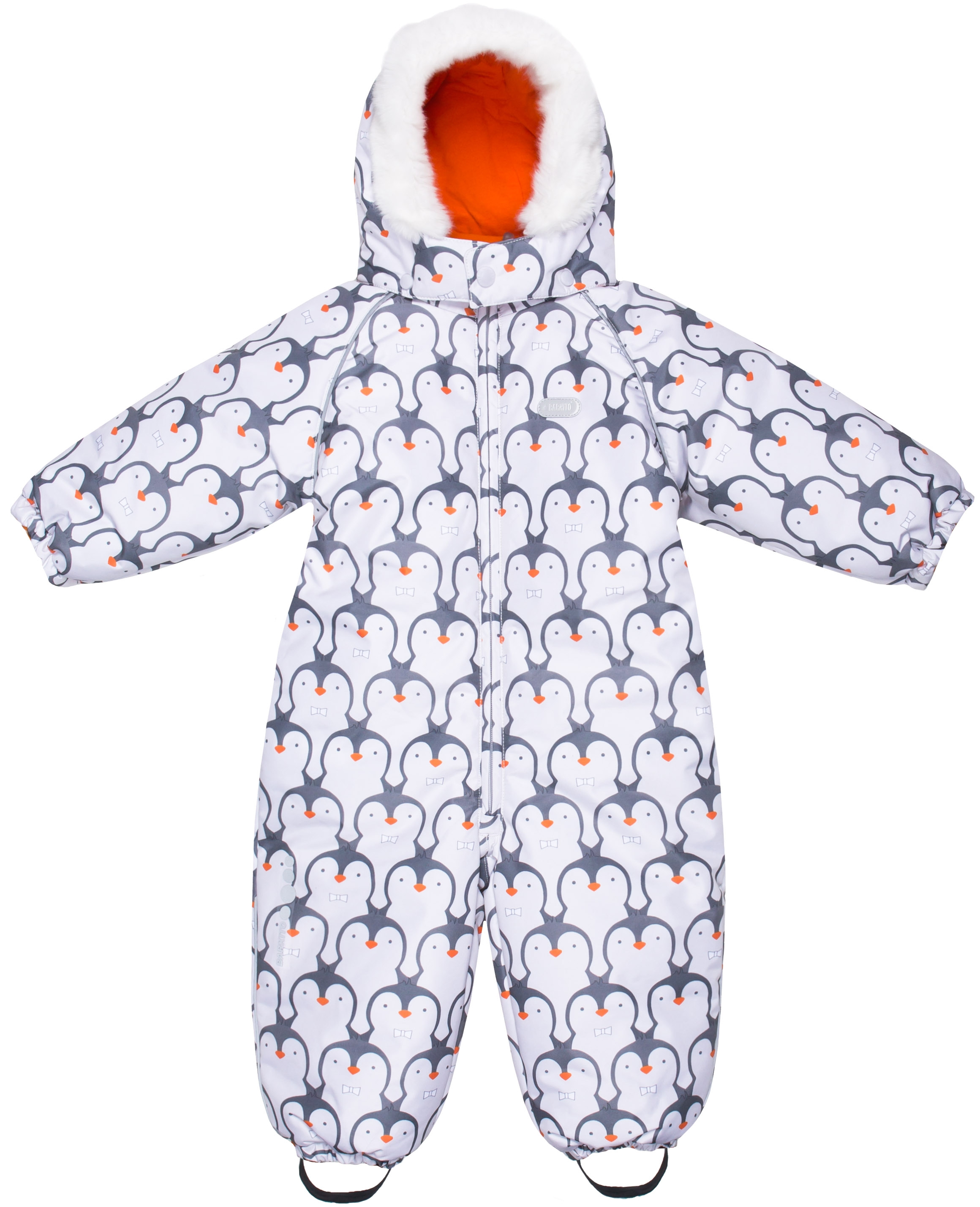 Комбинезон Barkito Для мальчика белый с рисунком пингвины