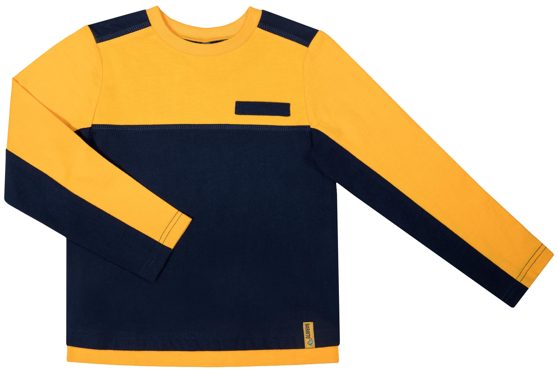 Купить Футболки, Футболка с длинным рукавом для мальчика Barkito Монстры в NY , желтая с синей отделкой, Узбекистан, разноцветный, Мужской