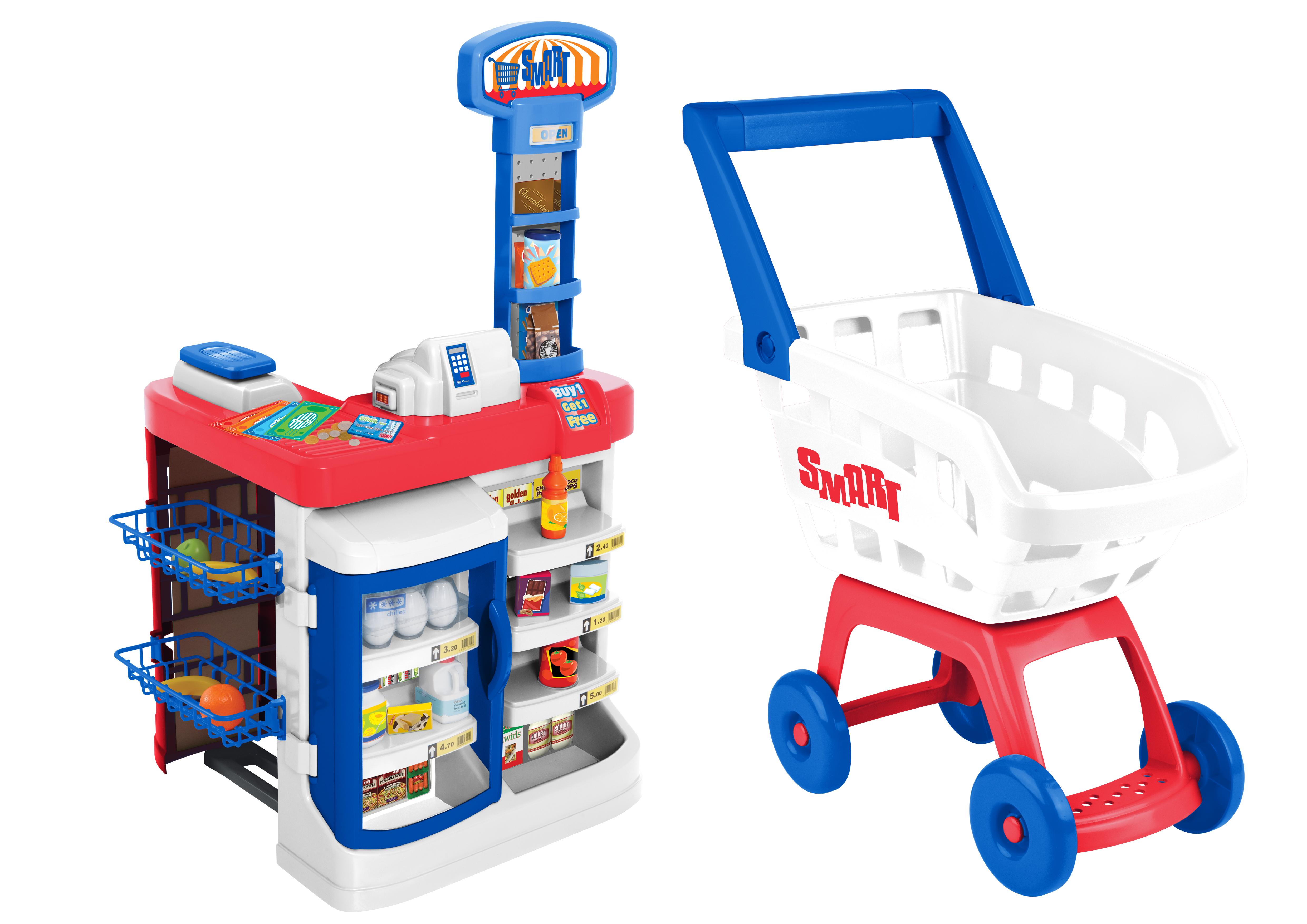 Играем в магазин HTI Супермаркет игровой магазин набор игровой для магазина полесье мини супермаркет в пакете 53404