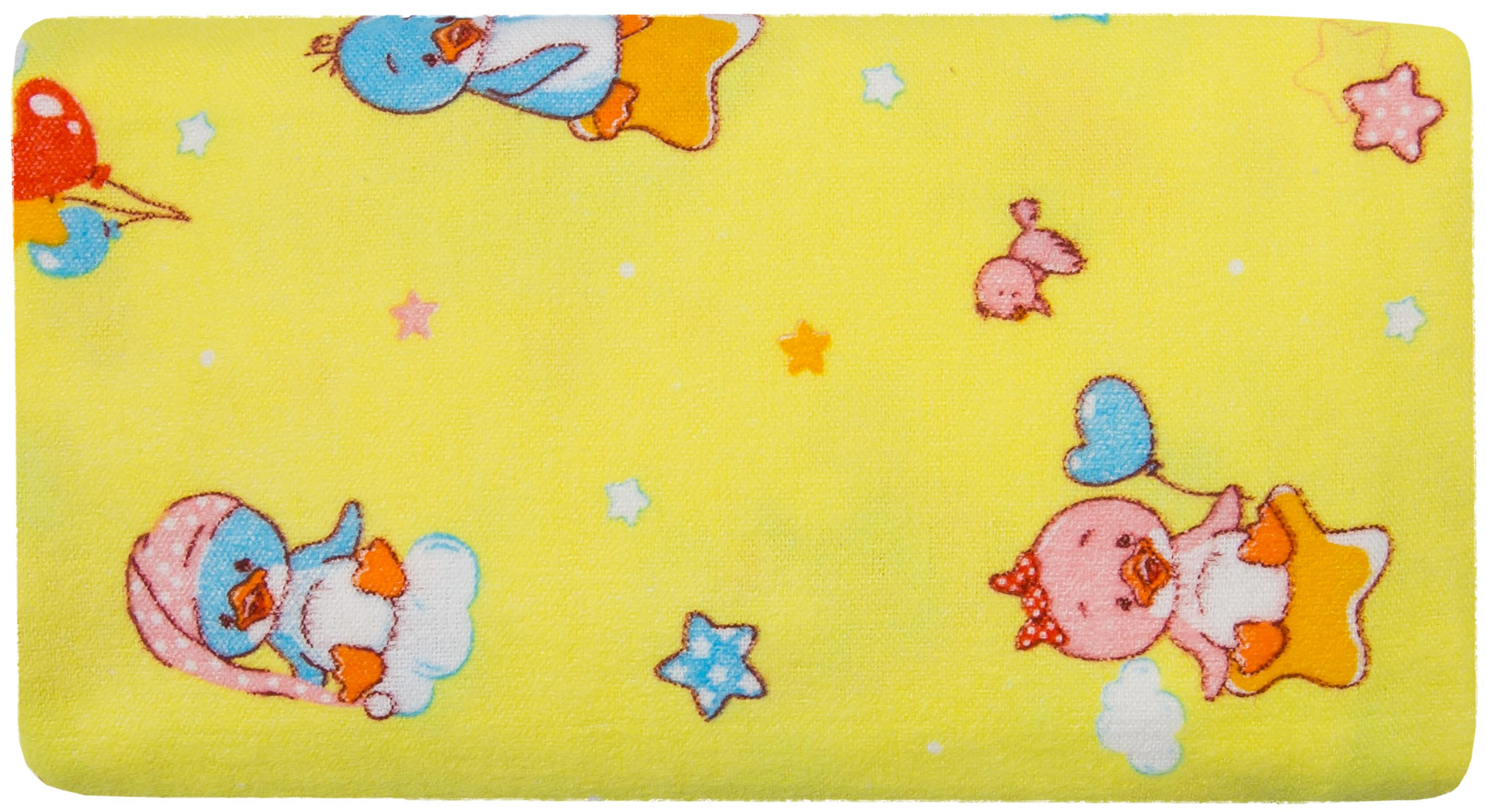 Купить Первые вещи новорожденного, Комплект пеленок Barkito, фланель, 2шт, белая с рисунком Горошки, желтая с рисунком Пингвины, 90x120 см, Россия, белый с рисунком горошки , желтый с рисунком пингвины