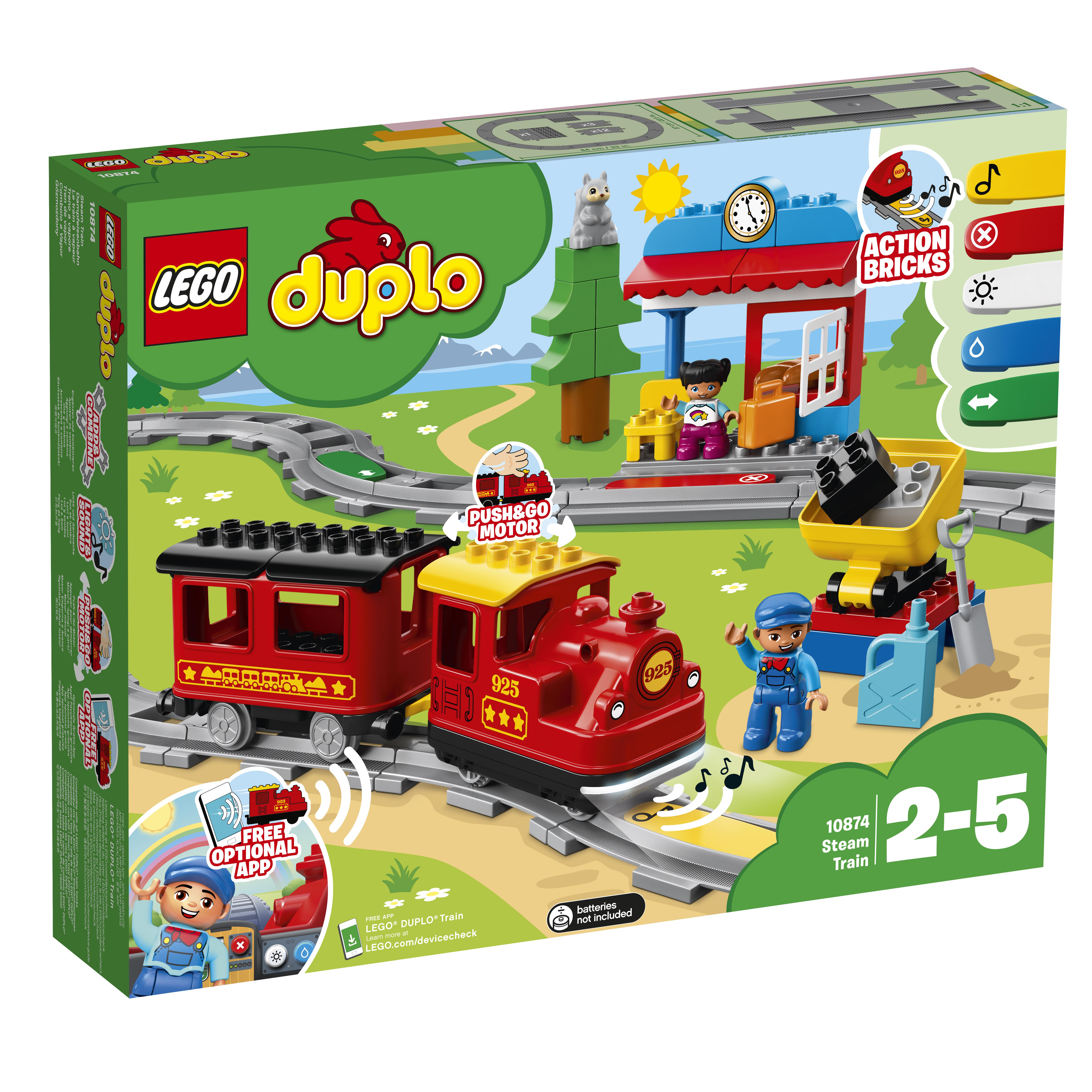 LEGO DUPLO LEGO Конструктор LEGO DUPLO Town 0 10874 Поезд на паровой тяге конструктор lego duplo мой первый поезд 10507